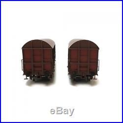 Coffret de 2 wagons Gahkkss 19-6 SNCF ép IV-V-HO-1/87-LSMODELS 30339