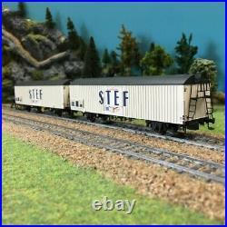 Coffret de 2 wagons couverts STEF SNCF ép IV-HO-1/87-LSMODELS 30238