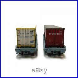 Coffret de 2 wagons porte conteneurs Rouch ép V SNCF-HO-1/87-LSMODELS 30314