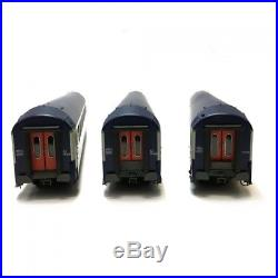 Coffret de 3 voitures B9 couchettes UIC ép IV-V SNCF-HO-1/87-REE VB-204