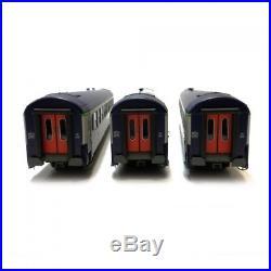 Coffret de 3 voitures B9 couchettes UIC ép V SNCF-HO-1/87-REE VB-181