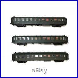 Coffret de 3 voitures Bacalan B11 SNCF Ep IIIB-HO 1/87-REE VB214