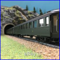 Coffret de 3 voitures Bacalan C11 SNCF Ep IIIA-HO 1/87-REE VB212