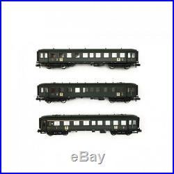 Coffret de 3 voitures Banania SNCF Ep III-N 1/160-FLEISCHMANN 867710