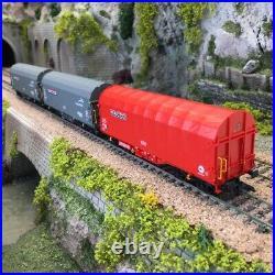 Coffret de 3 wagons à bâche coulissante NACCO Ep VI-HO 1/87-MARKLIN 47224
