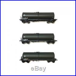 Coffret de 3 wagons citernes ANF longue Essence des Armées époque V-HO 1/87-REE