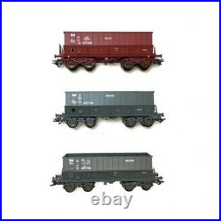 Coffret de 3 wagons minerais Ep V SNCF-HO 1/87-MARKLIN 48436