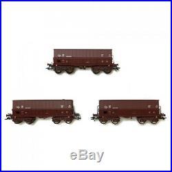 Coffret de 3 wagons minéraliers ép IV SNCB-HO-1/87-MARKLIN 48435