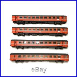 Coffret de 7 voitures B10, A9 et WR12 SNCF SNCB ép IV-HO-1/87-LSMODELS MW1701