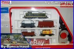 Coffret de Départ 1 BB 63000 SNCF et 4 wagons Rails et transfo PIKO P1091