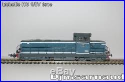 Coffret de Départ 1 BB 66000 bleu et 3 wagons Rails et transfo PIKO P1092