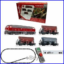 Coffret de démarrage digital loco + 3 wagons DB épIV-HO-1/87-FLEISCHMANN 631681