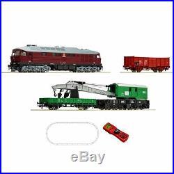 Coffret de démarrage digitale loco T679.2, grue et wagon CSD épIV -HO-1/87-ROCO