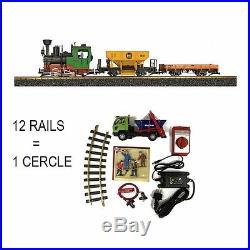 Coffret de démarrage vapeur + 2 wagons train de jardin -G-1/28-LGB 70403