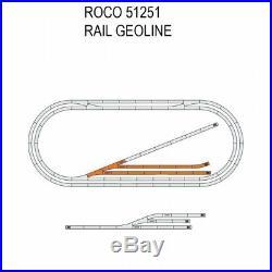 Coffret de rails Geoline aiguillage motorisé -HO-1/87-ROCO 51251
