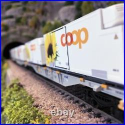 Coffret de wagons porte-conteneurs Coop Ep VI-HO 1/87-MARKLIN 47461