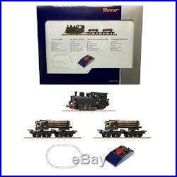 Coffret vapeur voie étroite chargement bois ép II à IV-HOe-1/87-ROCO 31030