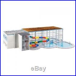 Grande piscine couverte avec toboggan-HO 1/87-FALLER 130150