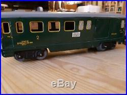 HORNBY O train avec locomotive, wagons, rails+lot de rails et aiguillage