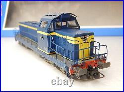 Jouef Locomotive Diesel Bb 66096 Bleu Liserait Jaune Champagnole Ho