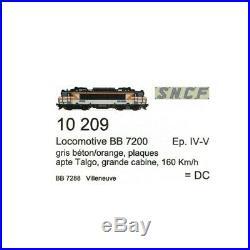 Loco BB7288 Villeneuve Ep IV Talgo SNCF digital son-HO 1/87-LSMODELS 10209S