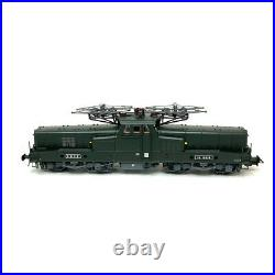 Locomotive BB 12079 Lens livrée vert/jaune SNCF Ep IV digital son-HO 1/87-JOUEF