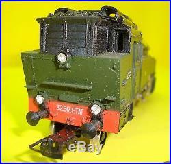 Locomotive VEB Vapeur BR75 SNCF 131T n° 32917 chemins de fer de l'ETAT Boite