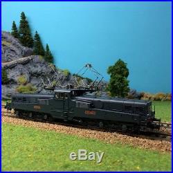 Locomotive électrique CC14111 livrée bleue d'origine digitale son-HO-1/87-JOUEF