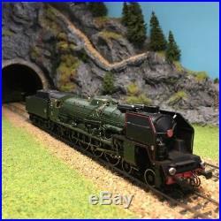 Locomotive vapeur 241 P 17 dépôt du Mans Sncf ép III-HO-1/87-JOUEF HJ2242