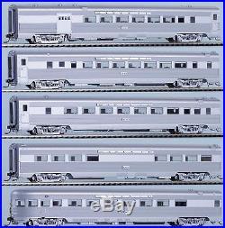 MTH HO Coffret de 5 wagons voitures voyageurs passagers Santa Fe Ribbed 1/87