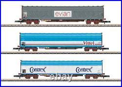 Märklin 82427 Voie Z Ensemble de Wagons Marchandises Rils SNCF 3-teilig # Neuf
