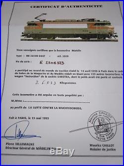 Marklin HO raritat BB 22265 3320 Record du monde Salon Maquette Paris 1995