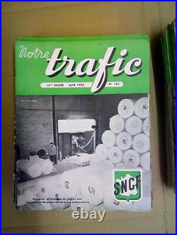 NOTRE TRAFIC REVUES SNCF de 1946 à 1959 -145 EXEMPLAIRES TRES RARES
