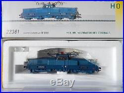 Rare Locomotive Trix Bb 12061 Bleu Ho Livre Fret Ho En Boite