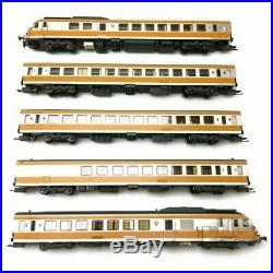 Rame 5 éléments RTG N°32 dépôt de Caen SNCF Ep IV digital son 3R-HO 1/87-EPM E22