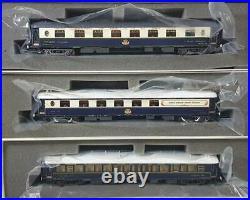 Rare Rivarossi Vsoe Noir Boîte Ho Ciwl, Orient Express Pullman, Trois Set Auto