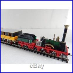 Rare Superbe Ensemble Locomotive Vapeur Wagon Trix Adler Ho