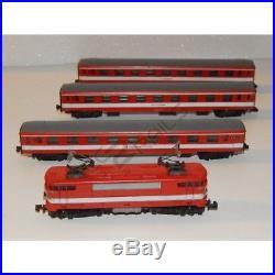 Rare Superbe Lot Arnold 1 Locomotive Et 3 Voiture Capitole Echelle N 1/160