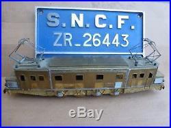 Rare train 2D2-5516 Laiton echelle O, la vie du rail SNCF / Jouets ancien