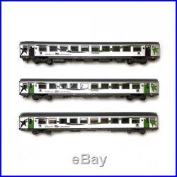Set 3 voitures Basse Normandie ép V-VI SNCF-HO-1/87-LSMODELS 40291