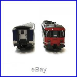Set autorail + voiture pilote SBB RBe4/4 Ep IV-HO 1/87-PIKO 96830