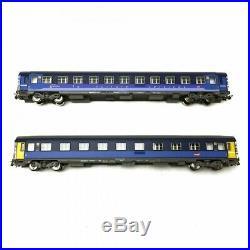 Set de 2 voitures corail Lunéa CL1 + Service SNCF Ep VI-HO 1/87-PIKO 58652