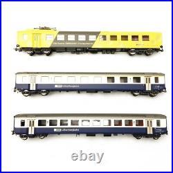 Set de 3 voitures Fromage Express Unifié EW I BLS-SBB Ep IV-HO 1/87-PIKO 96787