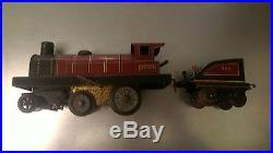 Sif J de P rame de train loco + wagons voyageur vers 1920