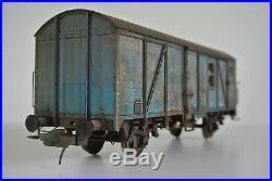 Spur 0, Lenz Werkstattwagen, Sonderlackierung in Blau, Handarbeitsmodell -Unikat