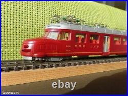 Train ChurchillPfeil RAe 4/8 HO Morep rouge 5,35cm équipé decodeur Zimo MX63