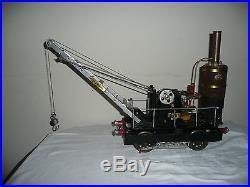 Vintage, Live Steam, 3 1/2 Inch Gauge, Scratch Built, Winch / Crane