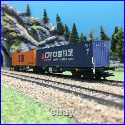Wagon Porte conteneurs double Sggrss PKP Ep VI-HO 1/87-TRIX 24802